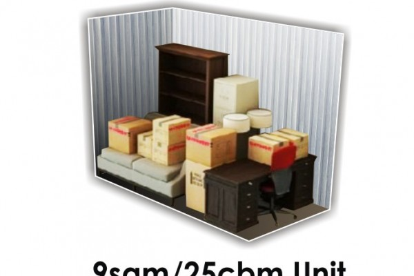9 SQM x 25 CBM Storage Unit