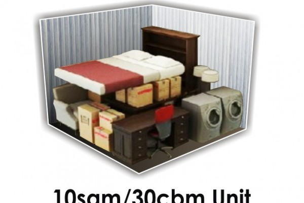 10 SQM x 30 CBM Storage Unit