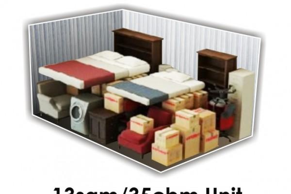 13 SQM x 35 CBM Storage Unit